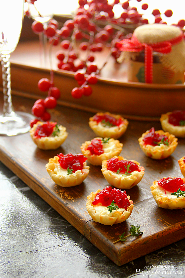 Christmas Party Hors D Oeuvres Ideas Part - 46: Cranberry U0026 Cream Cheese Mini Phyllo Bites {Christmas Party Appetizers}