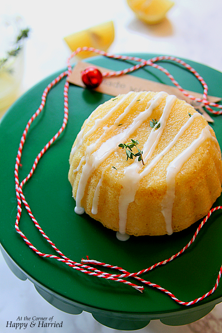 Lemon Glaze Over Warm Cake