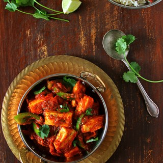 SPICY, TANGY PANEER JALFREZI & JEERA RICE - EASY INDIAN MEAL