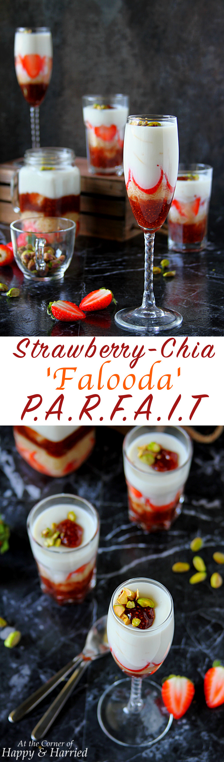 STRAWBERRY CHIA FALOODA PARFAIT - HAPPY&HARRIED