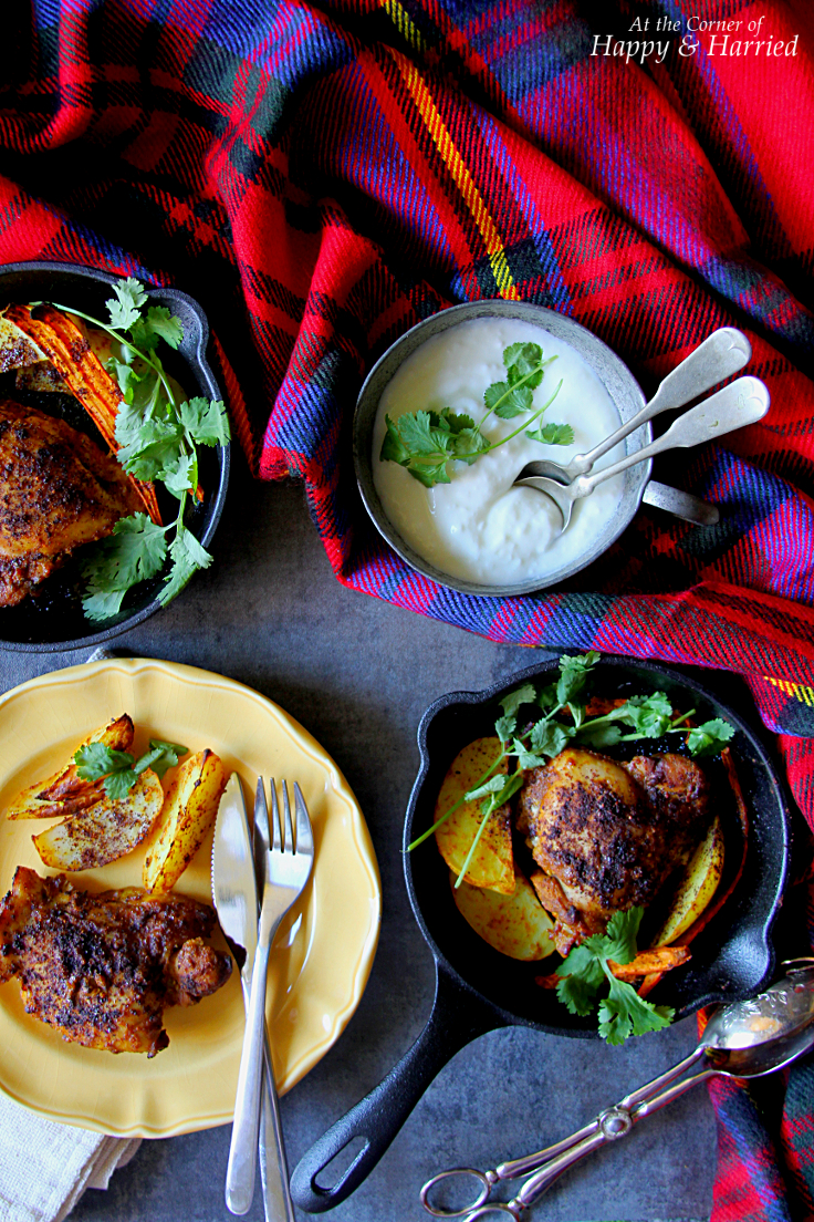 TAMARIND SUMAC GARAM MASALA ROAST CHICKEN - HAPPY&HARRIED