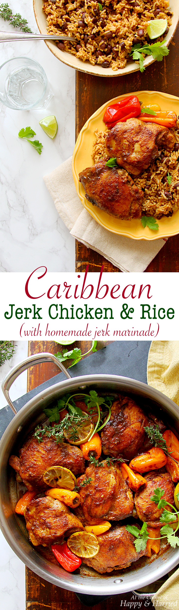 how to make jerk chicken and rice
