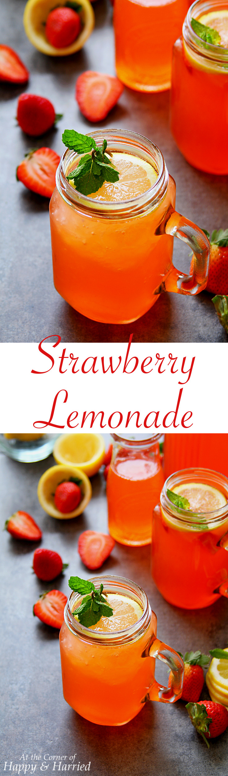 STRAWBERRY LEMONADE - HAPPY&HARRIED