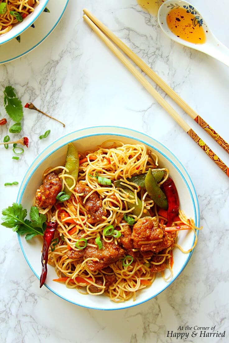 Spicy Szechuan Chicken Noodle Bowl
