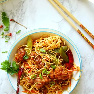 Spicy Szechuan Chicken Noodle Bowl