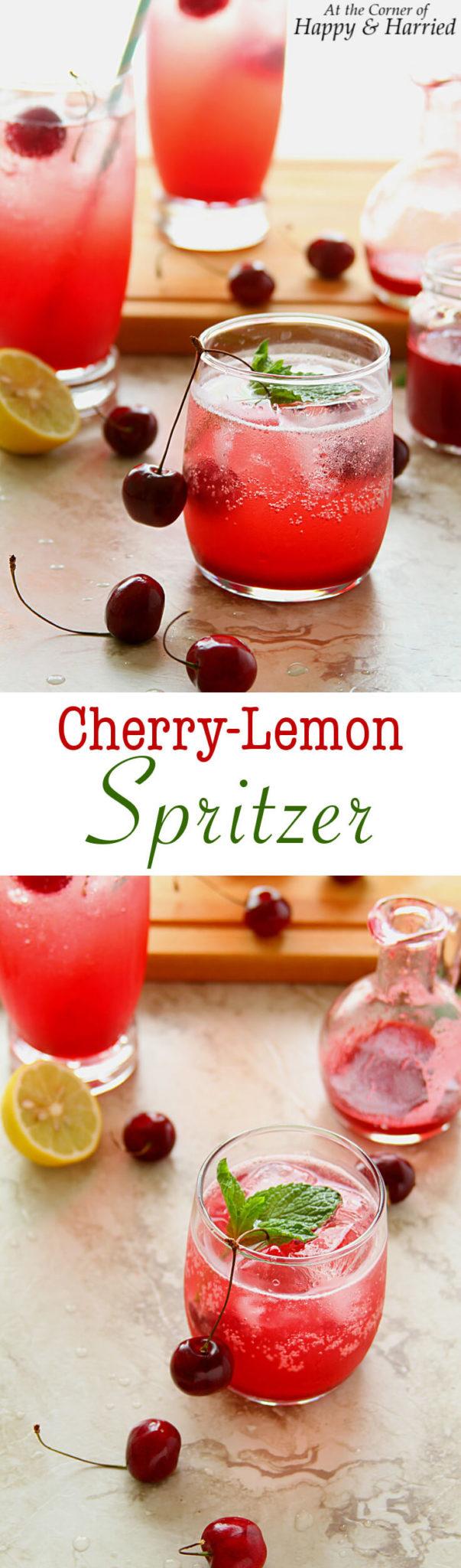 CHERRY LEMON SPRITZER - HAPPY&HARRIED