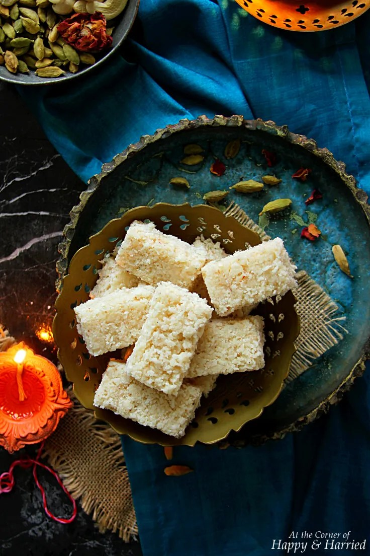 Coconut Burfi {Indian Coconut Fudge}