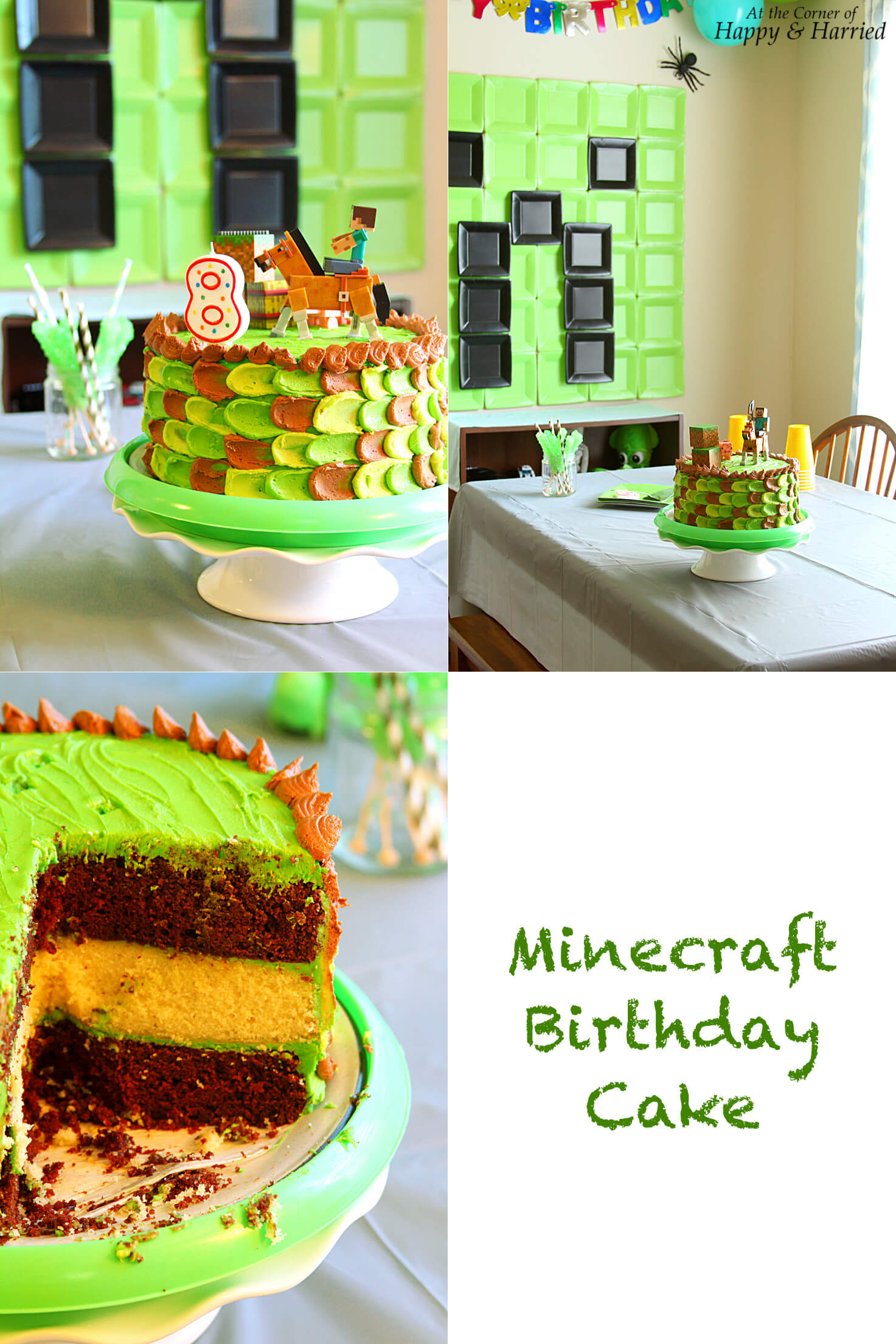 Minecraft Themed Birthday Cake