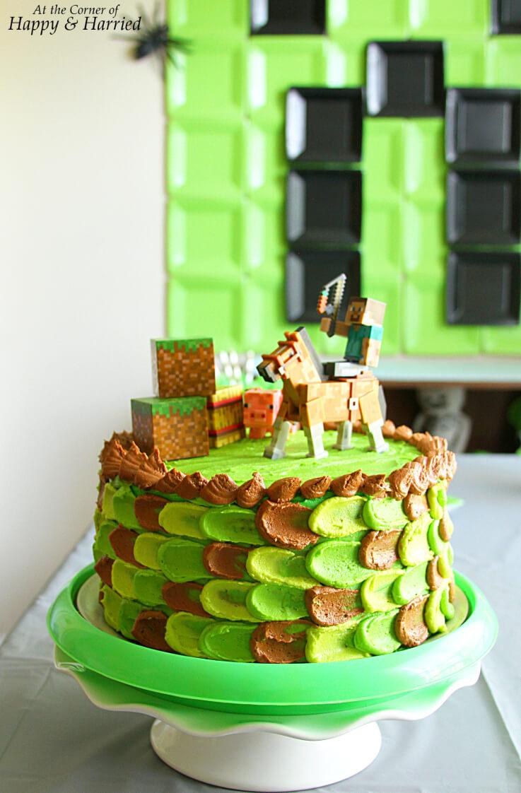 Magnificent Minecraft Themed Birthday Cake Funny Birthday Cards Online Alyptdamsfinfo
