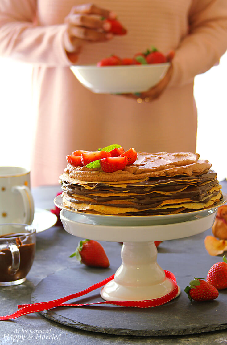 MOCHA CHOCOLATE CREPE CAKE - HAPPY&HARRIED