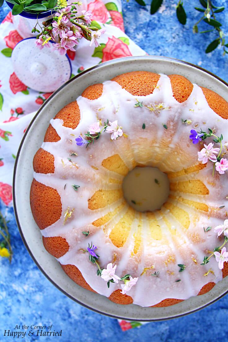 Spring Bundt Cake Lemon Thyme Olive Oil Cake