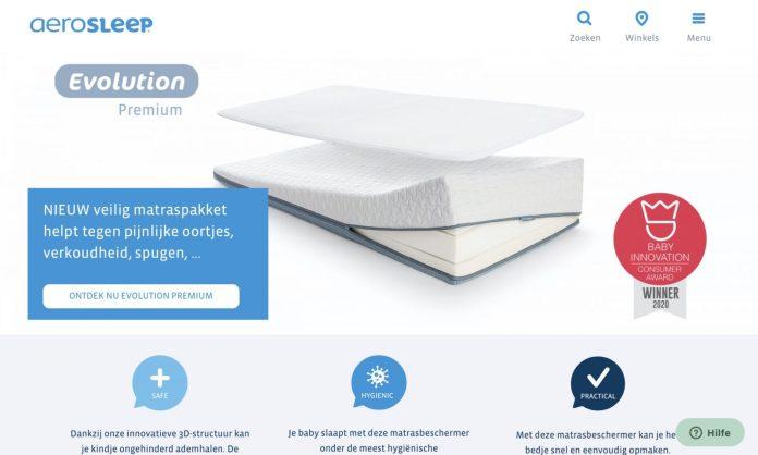 Screenshot der Marke Aerosleep
