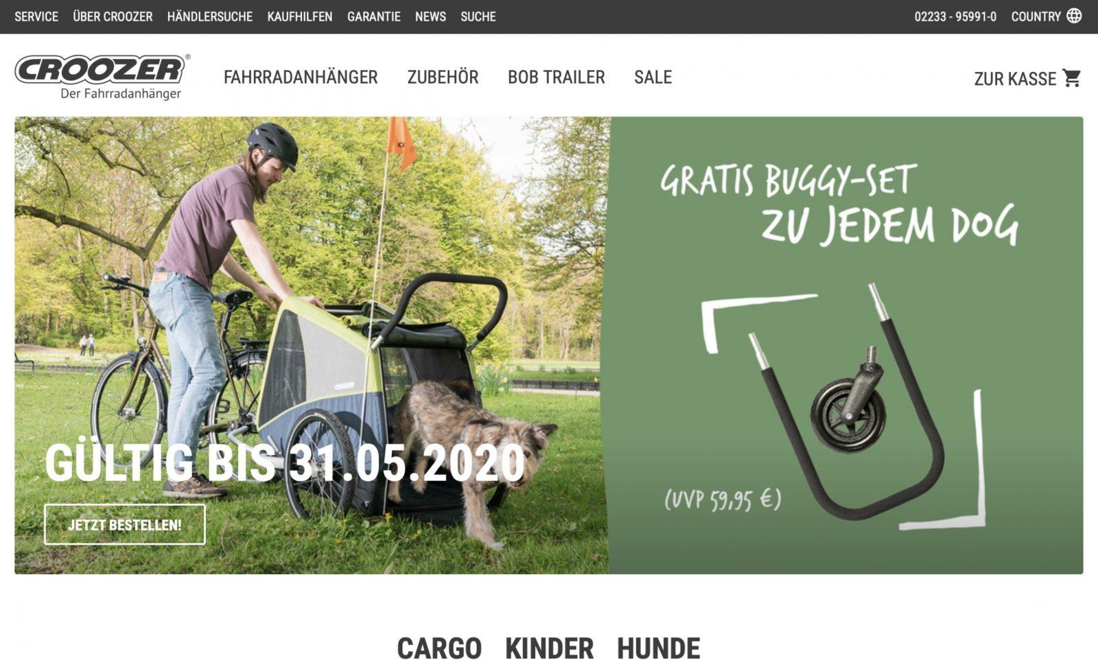 Screenshot der Marke Croozer