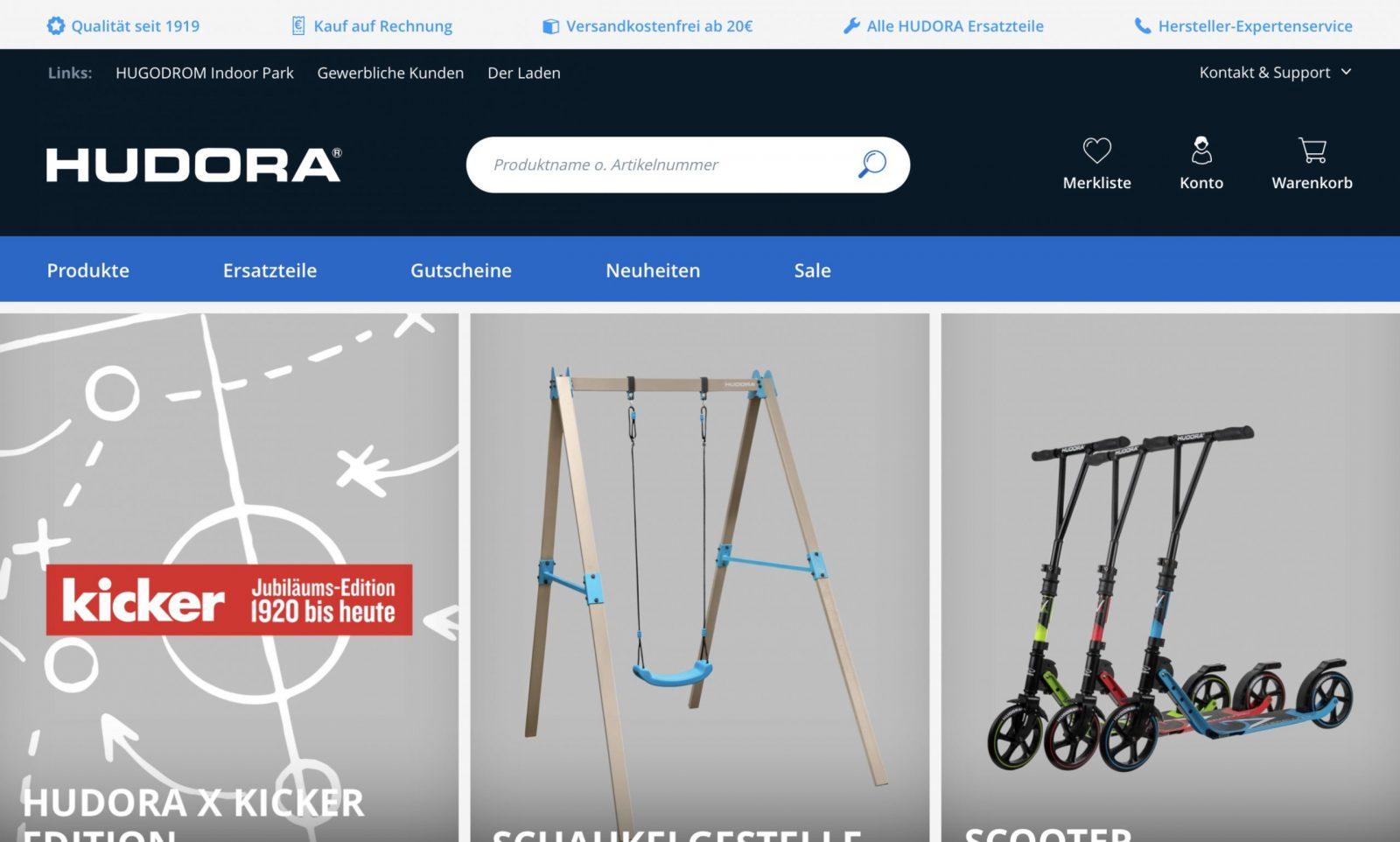 Screenshot der Marke Hudora
