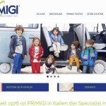 Screenshot der Marke Primigi