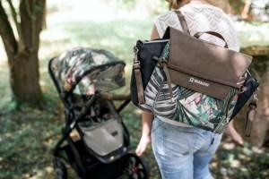 Die neue Wickeltasche N°4 von Gesslein gibt es im passenden Design zum gewählten Kinderwagen-Look.
