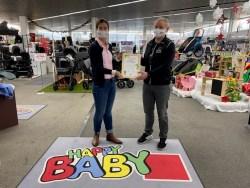 Für Nachhaltgkeit ausgezeichnet - Karoline Gumpert und Andreas Neher von HappyBaby Hoppala