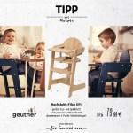 """Tipp des Monats April 2021:  Hochstuhl """"Filou UP"""" von Geuther"""
