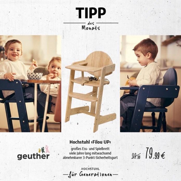 """Tipp des Monats Mai 2021:  Hochstuhl """"Filou UP"""" von Geuther"""