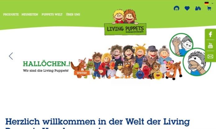 Screenshot der Marke Living Puppets