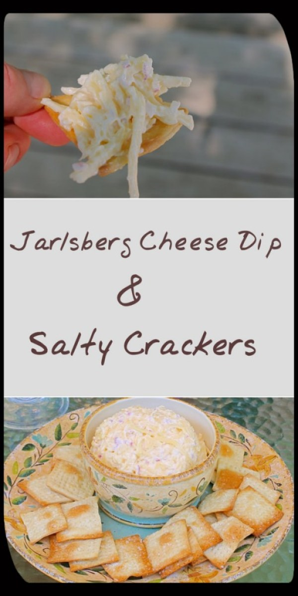 Jarlsberg Dip with Homemade Salty Crackers is the perfect snack for your next craving to munch!