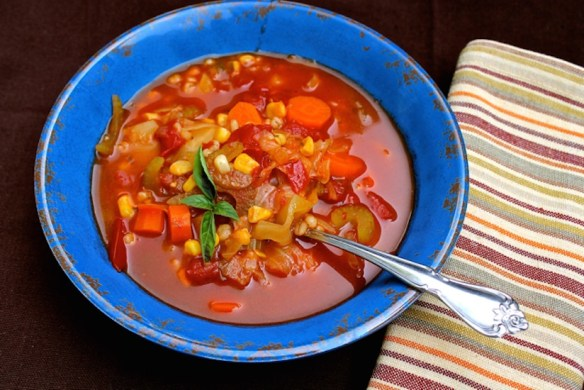 Homemade Vegetable Soup Pressure Cooker Fast! - Happy Belly Foodie