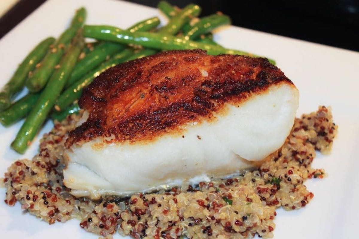 Plan Seared Sea Bass