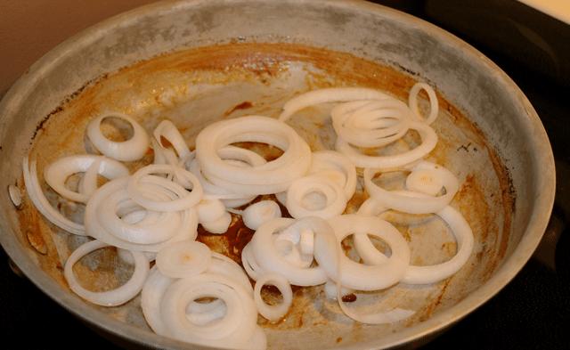 Saute onion for tacos