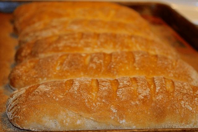 baked baguette rolls