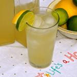 Homemade Lemon-Lime Soda ~ Ginger Bug