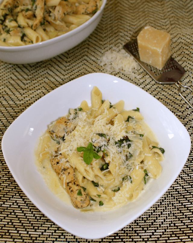 Pressure Cooker Artichoke & Spinach Pasta with Chicken is a wonderful dish created with famous hot artichoke & spinach dip in mind. Perfect for a meal!