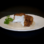Pecan Crusted Halibut with Dijon Mustard Sauce