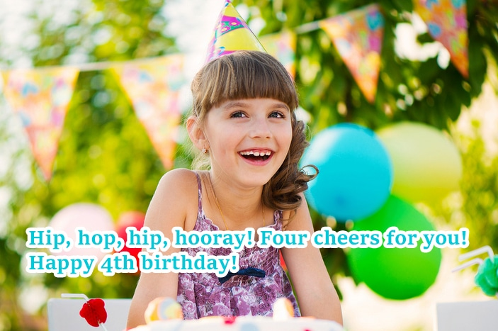 Awesome cute Happy 4th Birthday Wishes For Baby Girl & Baby Boy