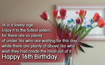 Sweet 100 Happy 16th Birthday Wishes For Girl & Boy