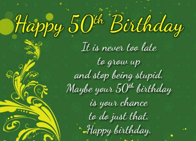 50th birthday wishes Message