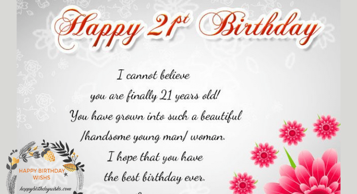 Top 100 Happy 21st Birthday Wishes For Girl & Boy