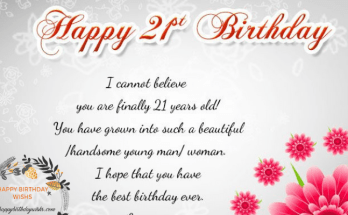 21st Birthday Wishes For Girl & Boy