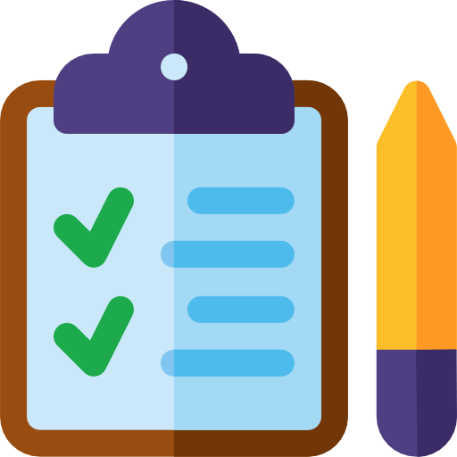 bookkeeping checklist and pencil