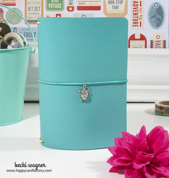 turquoise travelers notebook