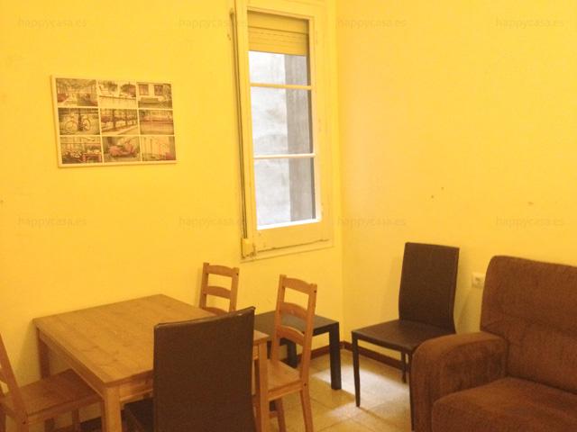 Salón agradable piso compartido para alquiler Barcelona