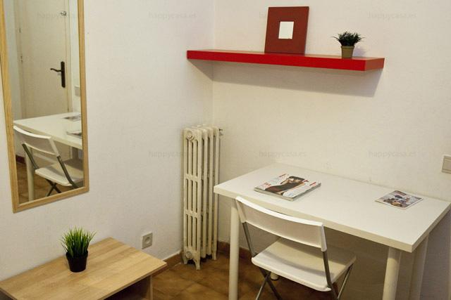 Bon plan logement chambre avec bureau Barcelone