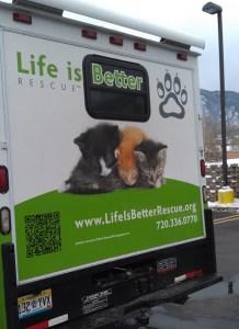 Life is Better Rescue van