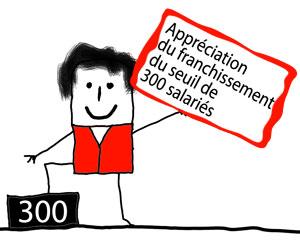 Appréciation du franchissement du seuil de 300 salariés en matière d'information-consultation et de fonctionnement du Comité d'Entreprise :