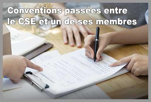 Conventions passées entre le CSE et un de ses membres