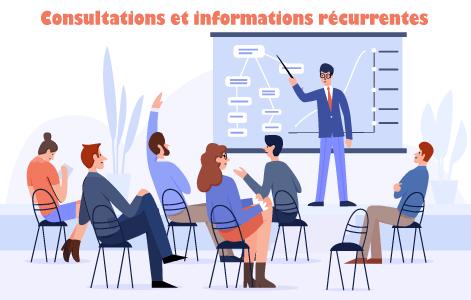 Consultations et informations récurrentes d'ordre public
