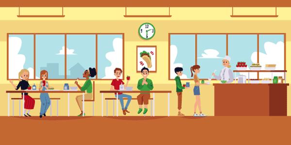 Participation du CSE aux frais de cantine (restaurant scolaire).