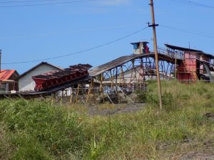 This photo shows the processing plant at Pitch Lake, Trinidad