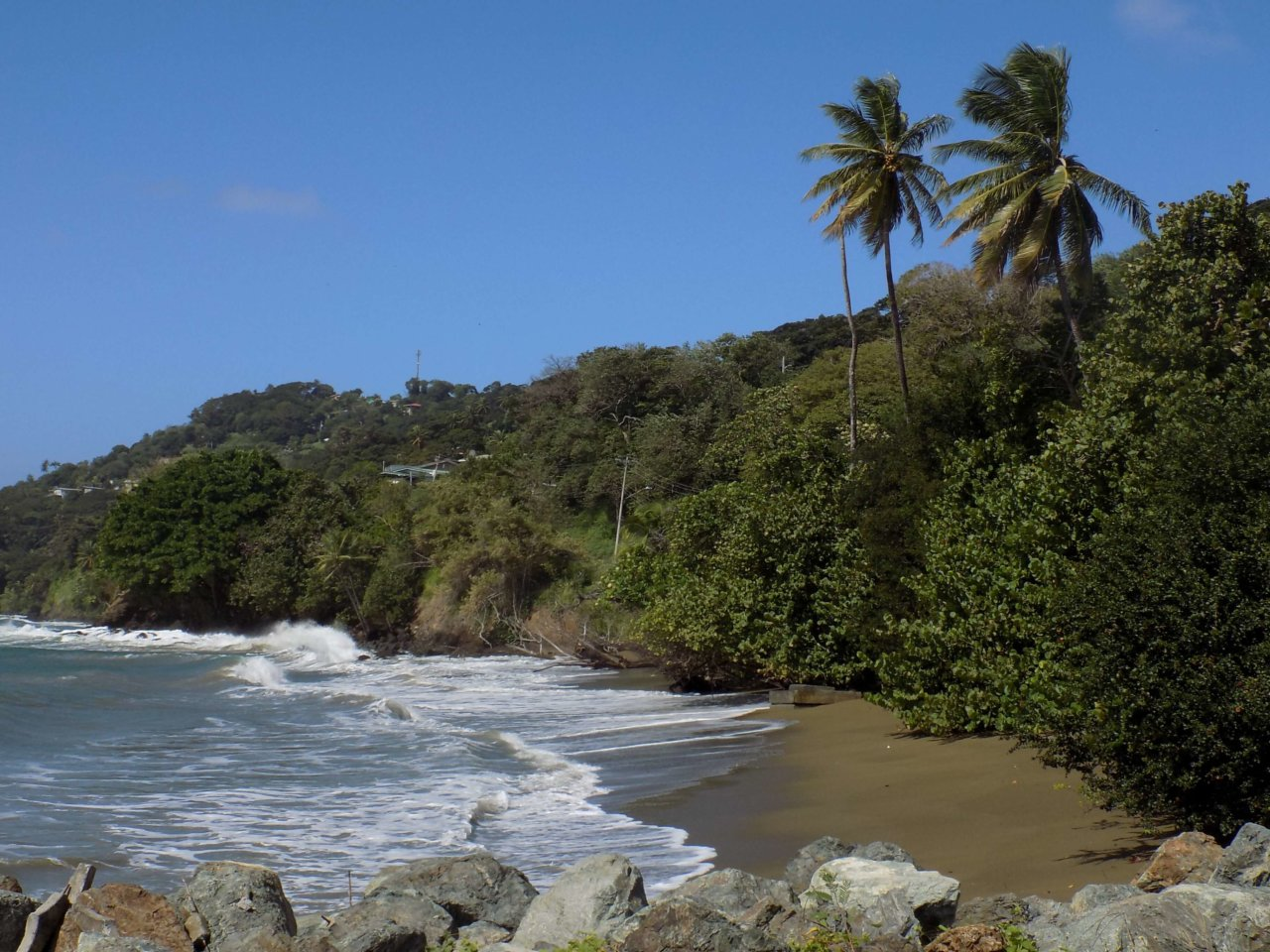 Exploring eastern Tobago - driving the coast road from Scarborough round to Castara