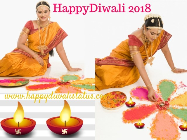 Beautiful and innovative multicolored Rangoli in this year Diwali