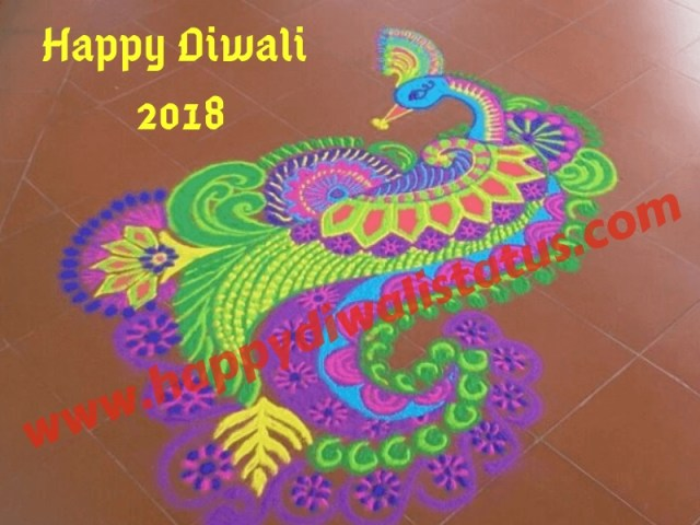 Rangoli design on this year Diwali with wishes, status, and images